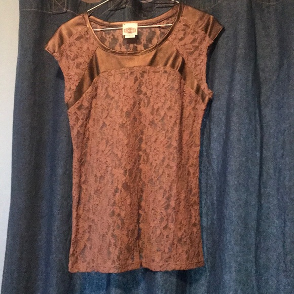 Rods Western Wear Brown Lace Top